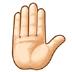 ✋🏻 raised hand: light skin tone Emoji on Samsung Platform