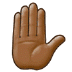 ✋🏾 raised hand: medium-dark skin tone Emoji on Samsung Platform