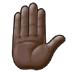 ✋🏿 raised hand: dark skin tone Emoji on Samsung Platform