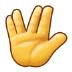 🖖 vulcan salute Emoji on Samsung Platform