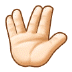 🖖🏻 vulcan salute: light skin tone Emoji on Samsung Platform