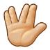 🖖🏼 vulcan salute: medium-light skin tone Emoji on Samsung Platform