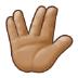 🖖🏽 vulcan salute: medium skin tone Emoji on Samsung Platform