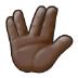 🖖🏿 vulcan salute: dark skin tone Emoji on Samsung Platform