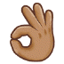 👌🏽 Medium Skin Tone OK Hand Emoji on Samsung Platform