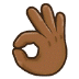 👌🏾 OK hand: medium-dark skin tone Emoji on Samsung Platform