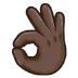 👌🏿 OK hand: dark skin tone Emoji on Samsung Platform