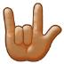 🤟🏽 love-you gesture: medium skin tone Emoji on Samsung Platform