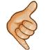 🤙🏼 call me hand: medium-light skin tone Emoji on Samsung Platform