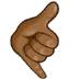 🤙🏾 call me hand: medium-dark skin tone Emoji on Samsung Platform