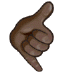 🤙🏿 call me hand: dark skin tone Emoji on Samsung Platform