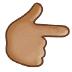 👉🏽 backhand index pointing right: medium skin tone Emoji on Samsung Platform