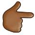 👉🏾 backhand index pointing right: medium-dark skin tone Emoji on Samsung Platform