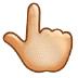 👆🏼 backhand index pointing up: medium-light skin tone Emoji on Samsung Platform