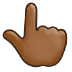 👆🏾 backhand index pointing up: medium-dark skin tone Emoji on Samsung Platform