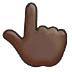 👆🏿 backhand index pointing up: dark skin tone Emoji on Samsung Platform