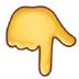 👇 backhand index pointing down Emoji on Samsung Platform