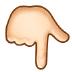 👇🏻 backhand index pointing down: light skin tone Emoji on Samsung Platform