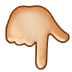 👇🏼 backhand index pointing down: medium-light skin tone Emoji on Samsung Platform