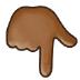 👇🏾 backhand index pointing down: medium-dark skin tone Emoji on Samsung Platform