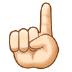 ☝🏻 index pointing up: light skin tone Emoji on Samsung Platform