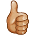 👍🏼 Medium-Light Skin Tone Thumbs Up Emoji on Samsung Platform
