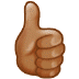 👍🏽 thumbs up: medium skin tone Emoji on Samsung Platform