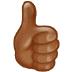 👍🏾 thumbs up: medium-dark skin tone Emoji on Samsung Platform