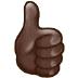 👍🏿 Dark Skin Tone Thumbs Up Emoji on Samsung Platform