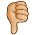 👎🏼 Medium-Light Skin Tone Thumbs Down Emoji on Samsung Platform