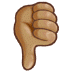 👎🏽 thumbs down: medium skin tone Emoji on Samsung Platform