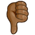 👎🏾 thumbs down: medium-dark skin tone Emoji on Samsung Platform