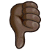 👎🏿 thumbs down: dark skin tone Emoji on Samsung Platform