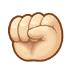 ✊🏻 raised fist: light skin tone Emoji on Samsung Platform