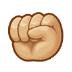 ✊🏼 Medium-Light Skin Tone Raised Fist Emoji on Samsung Platform
