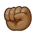 ✊🏾 raised fist: medium-dark skin tone Emoji on Samsung Platform