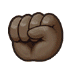 ✊🏿 raised fist: dark skin tone Emoji on Samsung Platform