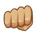 👊🏼 oncoming fist: medium-light skin tone Emoji on Samsung Platform