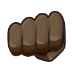 👊🏿 oncoming fist: dark skin tone Emoji on Samsung Platform