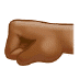🤛🏾 left-facing fist: medium-dark skin tone Emoji on Samsung Platform