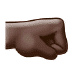 🤜🏿 right-facing fist: dark skin tone Emoji on Samsung Platform