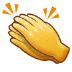👏 Aplauso Emoji en la plataforma Samsung