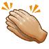 👏🏼 clapping hands: medium-light skin tone Emoji on Samsung Platform