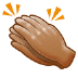 👏🏽 clapping hands: medium skin tone Emoji on Samsung Platform