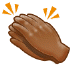 👏🏾 clapping hands: medium-dark skin tone Emoji on Samsung Platform