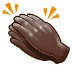 👏🏿 clapping hands: dark skin tone Emoji on Samsung Platform