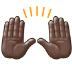 🙌🏿 raising hands: dark skin tone Emoji on Samsung Platform