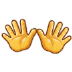 👐 open hands Emoji on Samsung Platform