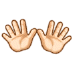 👐🏻 open hands: light skin tone Emoji on Samsung Platform
