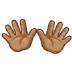 👐🏽 Medium Skin Tone Open Hands Emoji on Samsung Platform